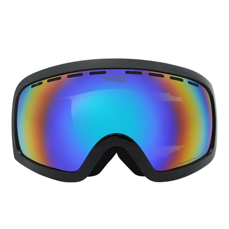 Prix pour NOUVEAU Empêchent brouillard Neige miroir UV400 Transporter myopie lunettes équipement de Plein Air ski lunettes Double anti-brouillard Montagne escalade lunettes