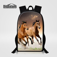 Dispalang 16 Inch Horse Pattern School Bags For Teenagers Animal Printing Backpack Women S Backpacks Fashion