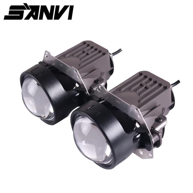 Sanvi 3inch Bi LED Projector Lens Headlight 35W 5500K RHD&LHD LED Projector Headlight for Car Motorcycle light Retrofit Kits