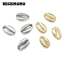 New 10 Pieces Cute Zinc Alloy Silver Sea Beach Conch Charms Connectors for DIY Jewelry Bracelet Accessories PJ275