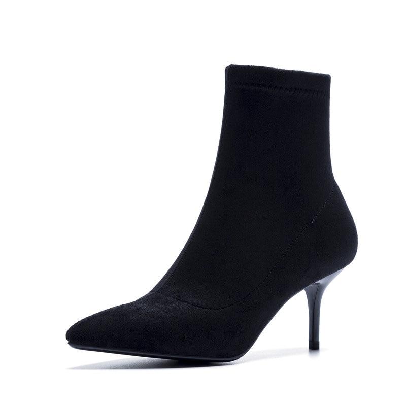 Style En De Talons gris Haute Noir Qualité Zip Arrivée Bottes Noir Smeeroon Cheville Daim Femmes Automne 2018 Mode Nouvelle OPuTlwikZX