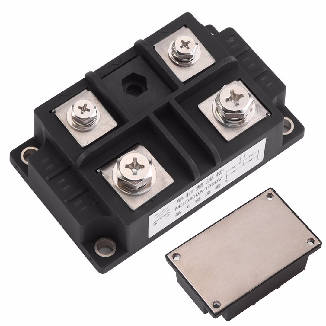 400 Amp 1600 Volt MDQ 400A DC Single-Phase Diode Module Bridge Rectifier 1600V Power for Current Alternating Conversion
