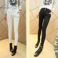2xl плюс размер леггинсы женщины весна осень 2016 бермуды feminina черный белый леггинсы брюки вне женского A1450