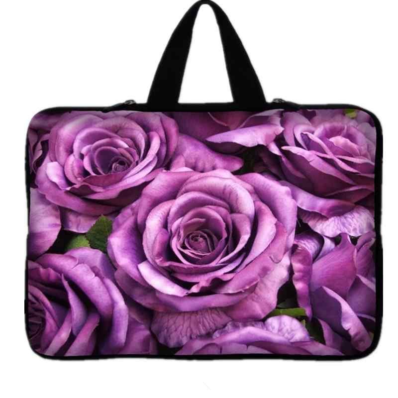 63b65329ddb0 Purple Flower laptop sleeve bag 7