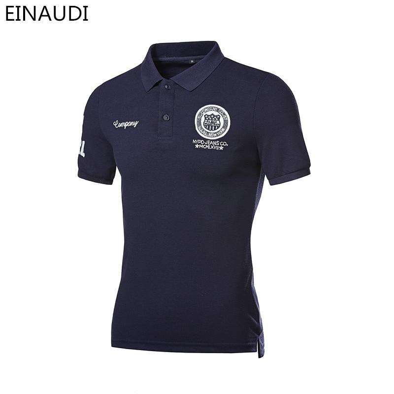 2017 Neue Marke Sommer Baumwolle Revers Männer Polo Shirt Abzeichen Kurzen ärmeln Männer Europäischen Und Amerikanischen Stil Polo Plus Größe 4xl 5xl