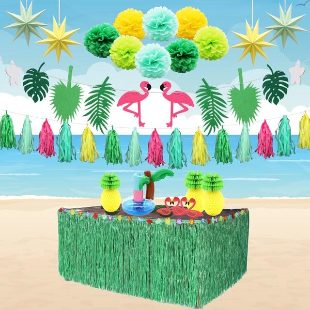 Beach Party Decorations Diy: Hawaiian Party Decorations Flamingo Foil Balloons DIY