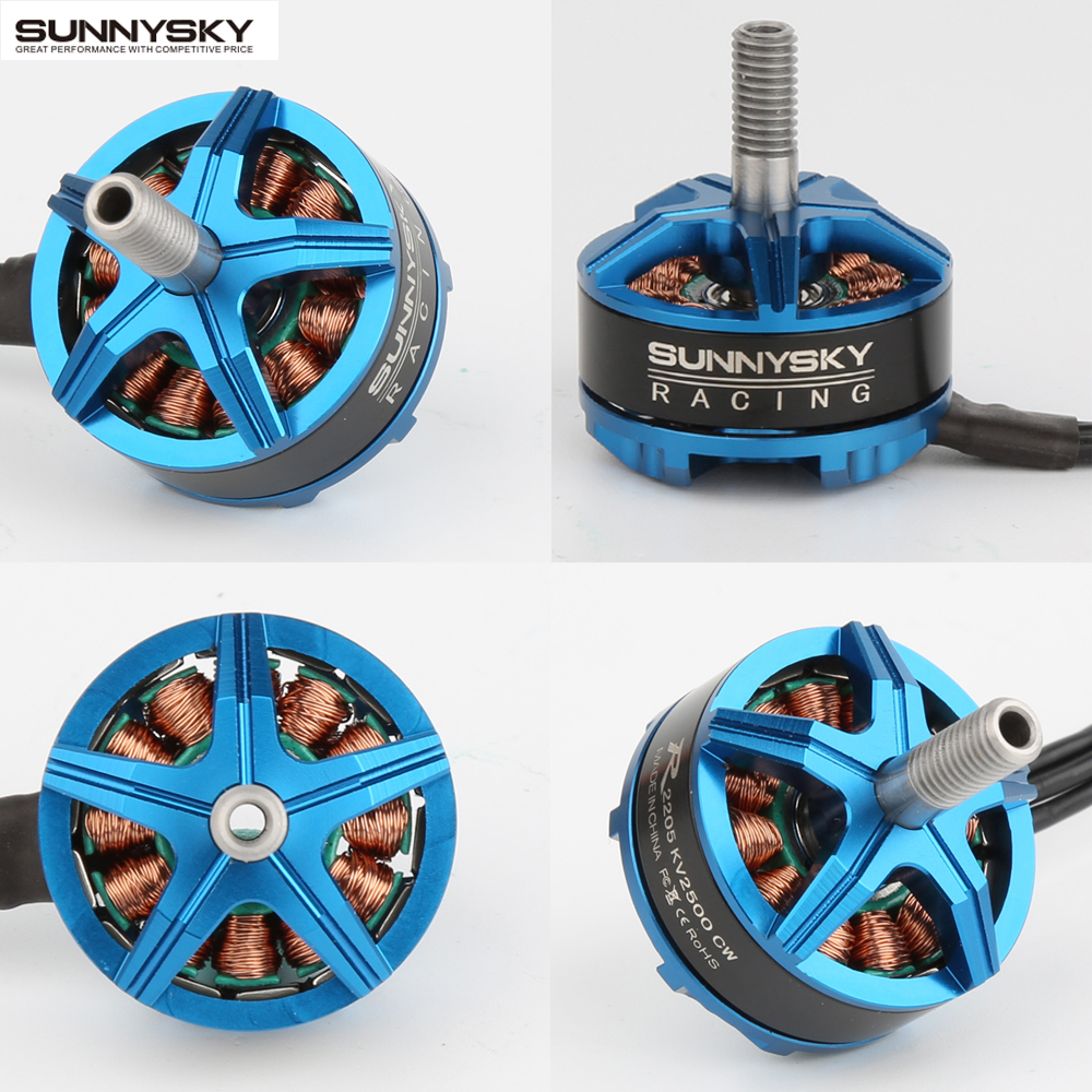 4pcs Original Sunnysky R2205 2300KV 2500KV Brushless Motor CW CCW for FPV Racing Quadcopter Drone Multicopter