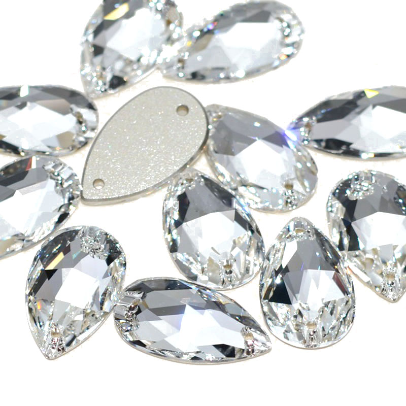 100 Hot Fix HEARTS Shape Rhinestones Gem Iron On Flatback Crystal Clear 6x7mm