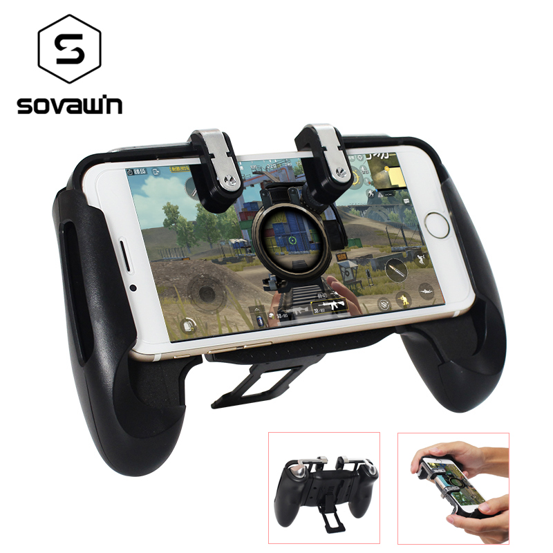 Portable 2 in 1 gamepad Aim Key Shooter pubg controller Trigger mobile