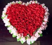40 cm * 37 cm Güzel Kalp Shape Gül Çiçek Düğün Araba Duvar Kapı Yapay Dekoratif Çiçekler için
