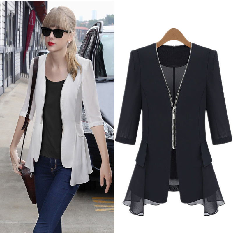 New Novelty Hippie Clothing Cheap Female Blazers 2015 Summer Style ...