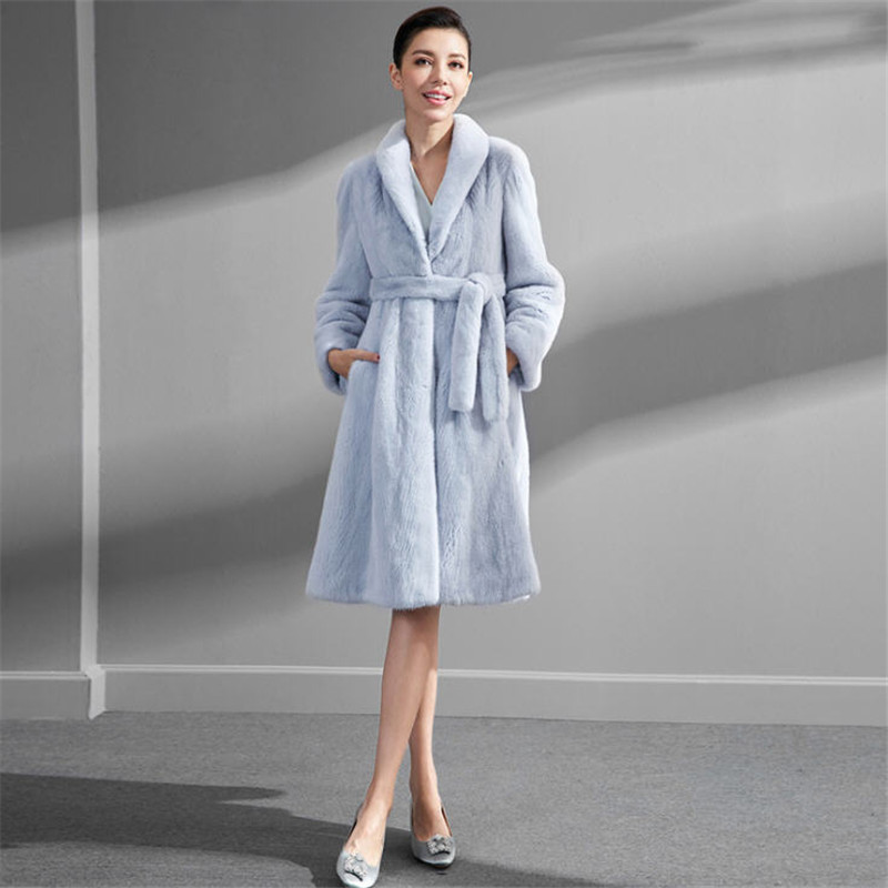 2019 Winter Women Faux Mink Fur Coat Woman Luxury Long Fake Fur Coats Mujer Female Elegant