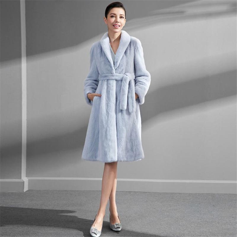 Manteau Hiver Mujer Élégante De Longue 6xl Fourrure Luxe 2019 Grande Taille Femmes Vison Blue S Femme A1744 Light Manteaux Faux kZiuOXP