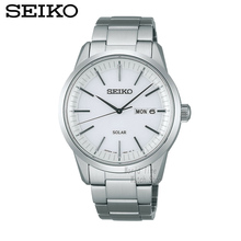 SEIKO Men 'S Table Spirit Solar Business Leisure Quartz Watch Waterproof Men' S Steel Strap Watch SNE297J1 SNE299J1