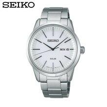Seiko mesa espírito solar negócio lazer dos homens relógio de pulseira de aço relógio de quartzo dos homens à prova d' água sne297j1 sne299j1