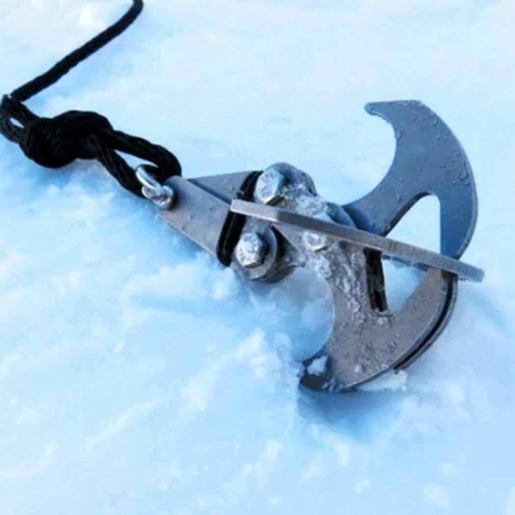 Прочный Открытый инструмент гравитационный крюк из нержавеющей стали высокая производительность выживания складной карабин