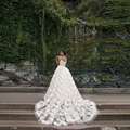 Vintage Wedding Dress Alibaba China2016 Long Wedding Dresses Appliques Crystal Floor-Length Vestidos de Novia With Lace Flowers