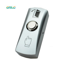 Zinc alloy NO COM GATE DOOR Exit Button Switch For Access Control System Push Exit Release Button Switch open door free shipping high quality plastic door release switch emergency exit button push to open the door for access control system sc2