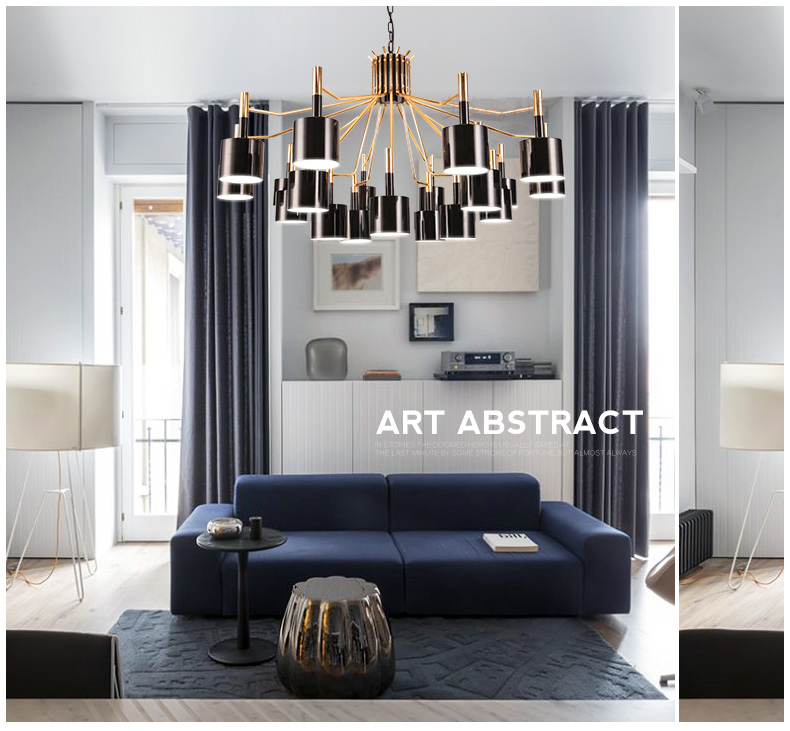 Modern minimalist personalized nordic creative LED post modern neo classical metal bull creativity decoration design chandeliers