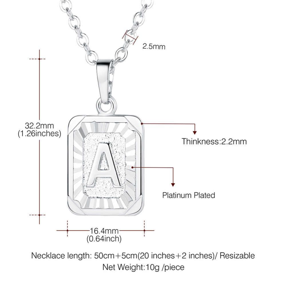 b9a2a55406e8 ... U7 Plaza cartas collares colgante collar de cadena para las mujeres los  hombres inglés nombre inicial ...