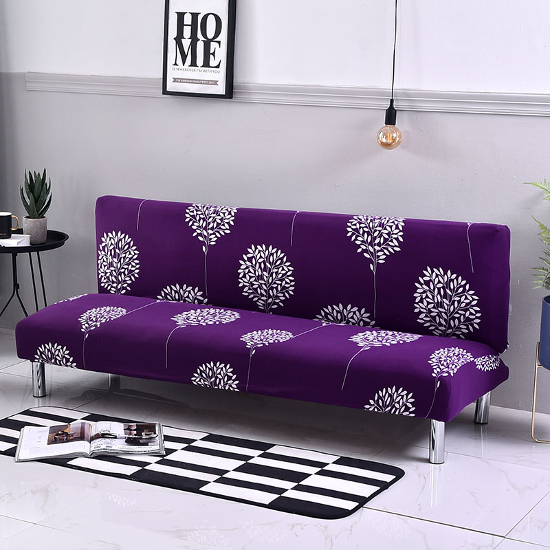 Floral Printing Sofa Cover Without Armrest Folding Sofa Bed Cover All-Inclusive Couch Cover Slipcover Sofa Protector Furniture
