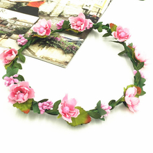 1Pcs Flower Crown Bride Artificial  Plastic Head Wreath For Hair Floral Headband Accessories Wedding