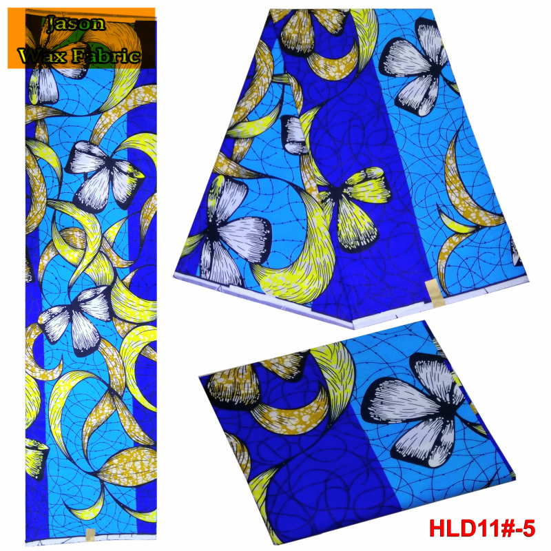 Newest good quality 100% cotton super wax hollandais fabric african wax batik prints fabrics 6 yards/lot for dress LBL