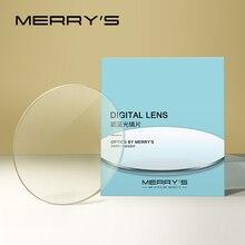 MERRYS Anti Blue Light Series 1.56 1.61 1.67 Optical Lenses Anti-Blue Prescription Glasses Lens Myopia Thin HMC