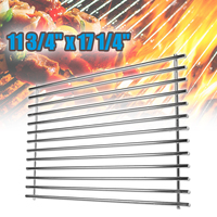 17 1/4inch Smokeless Barbecue BBQ Grill Burner Cooking Net Outdoor Stainless Steel Grill Grid Grate