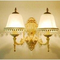 Style européen Blanc dentelle appliques murales de chevet lampes chambre salon allée lumières creative LED mur lampes FG361 LU1018