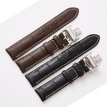 רצועת השעון עור אמיתי רצועת עבור Longines מאסטר אוסף צמיד חגורה צמיד 13 14 15 18 19 20 21 22 mm