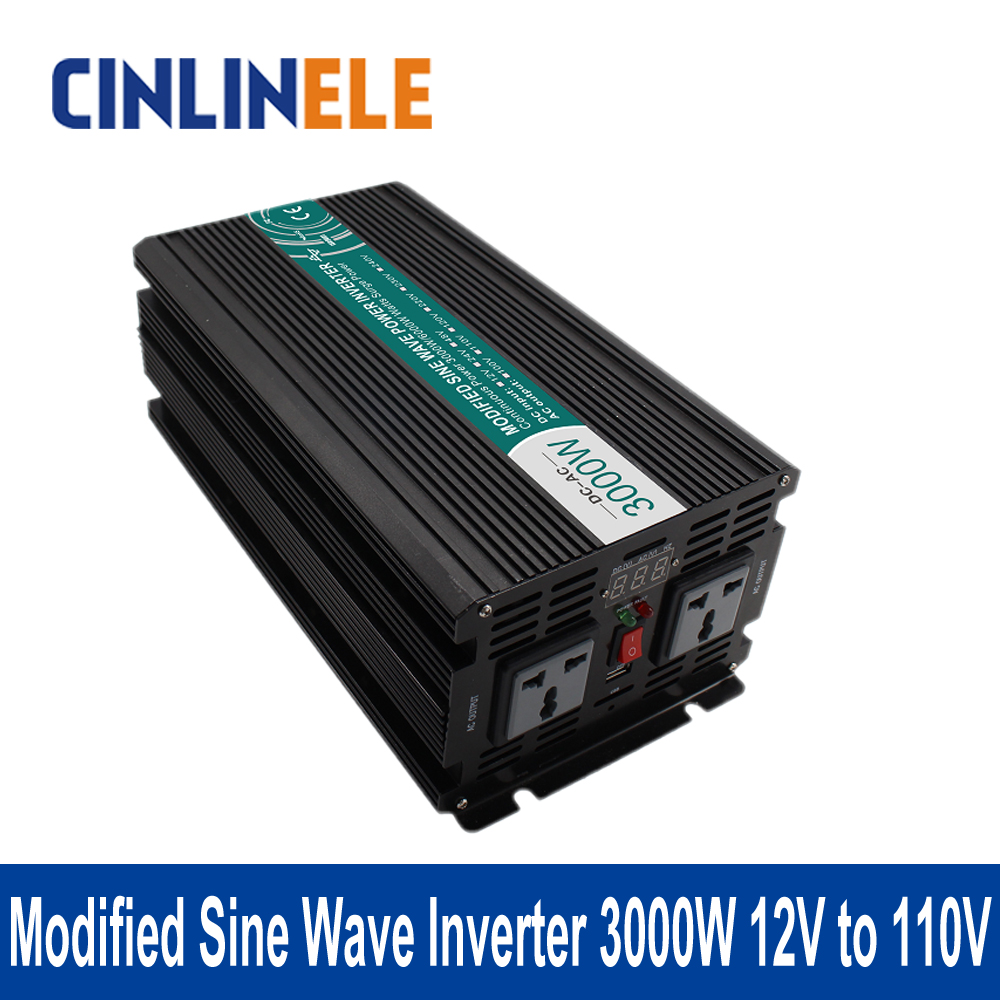 Подробнее о Modified Sine Wave Inverter 3000W CLM3000A-121 DC 12V to AC 110V 3000W Surge Power 6000W Power Inverter 12V 110V 1200w 12v to 110v power inverter safe power inverter for home made in china modified sine wave 12v to 110v inverter 1200w
