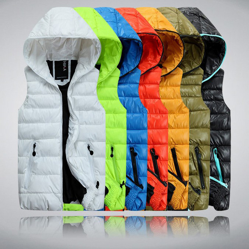 Autumn Winter Casual Hooded Vest Men High Quality Cotton padded Chaleco Hombre Spring Comfortable Couples Sleeveless