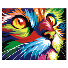 Hot Cross Stitch Colorful Cartoon Cats Full Drill  5D Diamond DIY Painting Craft Kit Home Best Decor Gift Diamond Embroidery