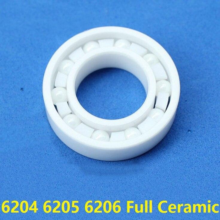 5pcs/lot 6204 6205 6206 ZrO2 full Ceramic bearing 20x47x14 25x52x15 30x62x16 mm Zirconia Ceramic deep groove ball bearings
