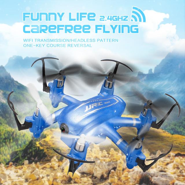 Jjrc h20w mini wifi drones fpv 6 ejes rc quadcopters dron con cámara de 2mp hd flying toys nano helicópteros de control remoto helicóptero