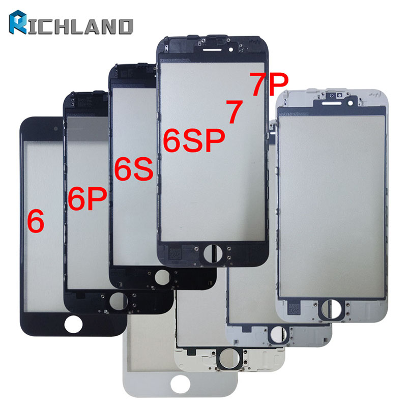 Outer Glass with Frame For iPhone 7G 7plus 8 8g 8 Plus LCD Front Touch Screen Glass Bezel+Frame Panel Digitizer Sensor Parts image