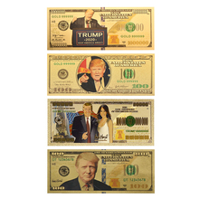 2020 Donald Trump Commemorative Million Dollar Gold Banknote 24K Plated Money Gift for men/ Currency Collectors 4 style