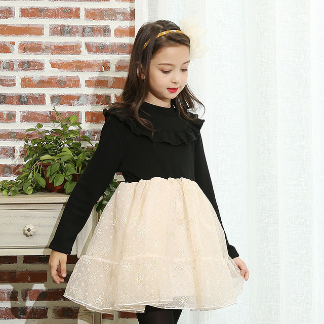 b45b270db97d4 14 10 8 6 4 year children girls dress party autumn patchwork long sleeve  dresses for girls of 15 years old children clothing