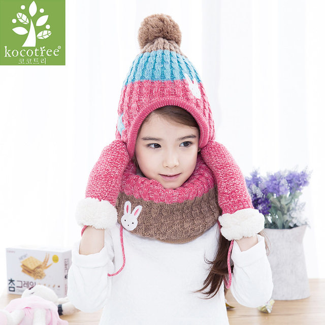 7570d905fa3 Online Shop Kocotree 2 to 10 years old 3 Pieces Winter Children Knit ...