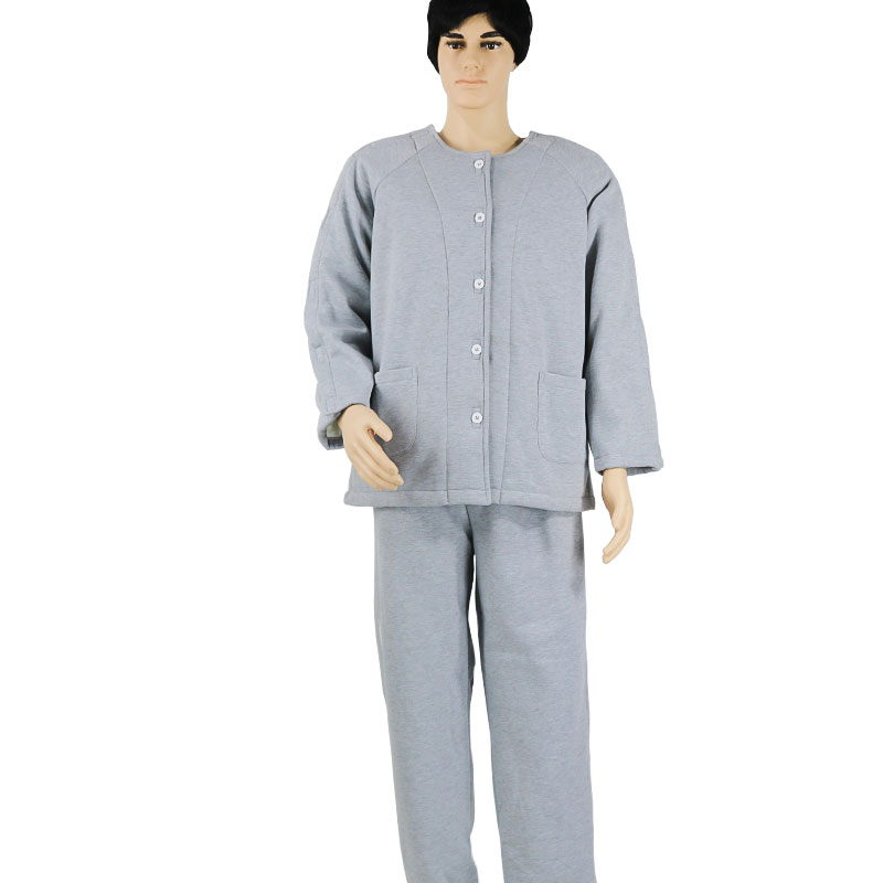 Thicken Patient Care Clothes, Easy To Wear Off Cotton Paralysis Clothing, For Bed Rest Disability Fractured Elderly Pajamas