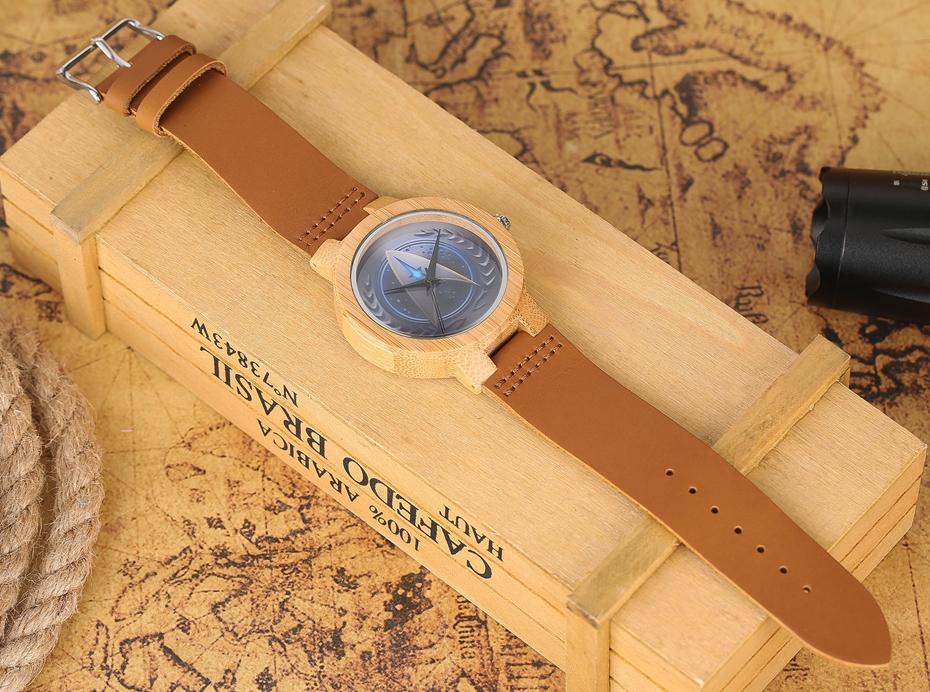 Casual Wooden Watch Fashion Movie Theme Star Trek Bamboo Clock Men Genuine Leather Band Sport Boys Minimalism saat erkekler 2017 watches (13)