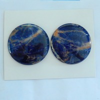 2 PCS Sodalite Gemstone Cabochon 43x7mm 38 33g