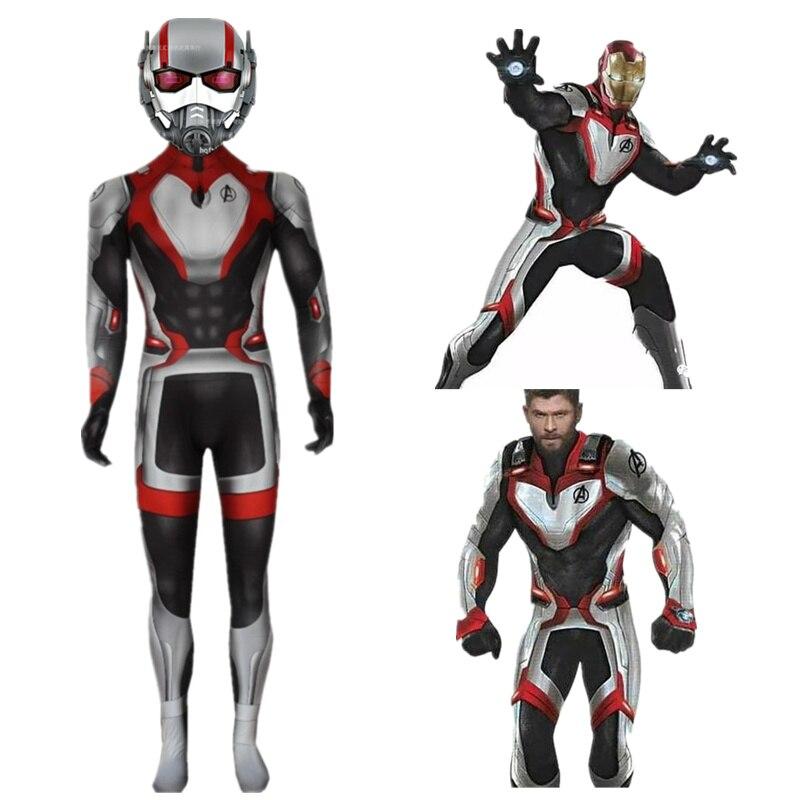 Full Set Avengers Endgame  Quantum Realm Cosplay Costume Mask Costume Superhero  Cosplay Hulk Iron Man Ant Man Kids And Adults