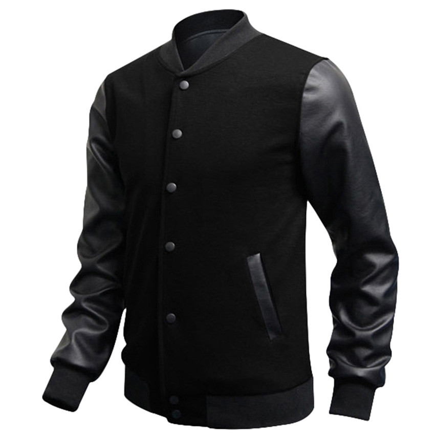 Online Get Cheap Leather Baseball Jacket Men -Aliexpress.com ...