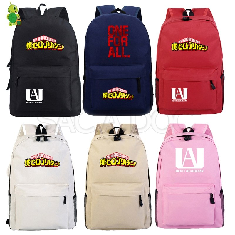 My Hero Academia Backpack Anime School Bags For Teenagers Boys Girls Solid Laptop Backpack Casual Travel Shoulder Bags