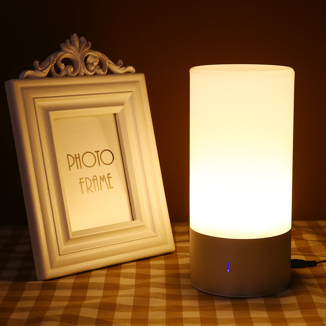 Toque Sensor LED Night Light Bluetooth Speaker Lamp Mood Mudando a Cor RGB Veilleuse