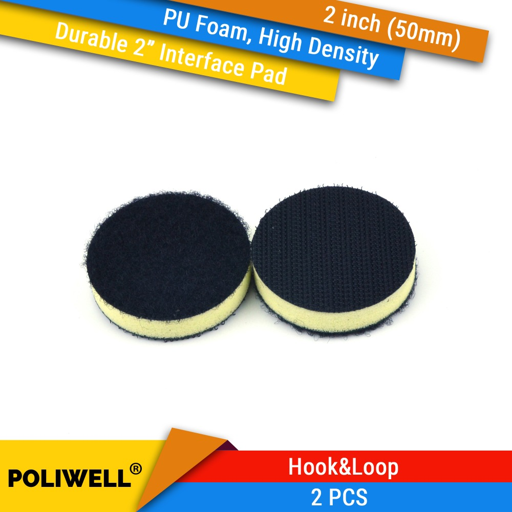 2PCS 2 Inch(50mm) High Density PU Foam Surface Protection Interface Pads For 2