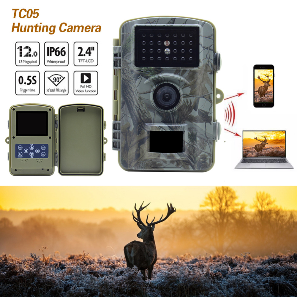 цена на Skatolly TC05 Outdoor Waterproof Hunting Camera Wireless 720P IR Night Vision Surveillance Wildlife Hunting Trail Detection