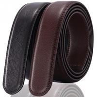 No Buckle Belt Body Strap Without Buckle Belts Men Good Quality Male Belts Automatic Buckle Belt